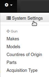 System Settings Menu