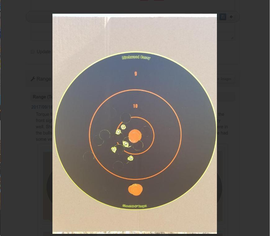 Gun Results Tool Buttons