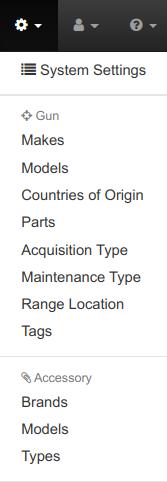 Accessory Maintenance Menu Options