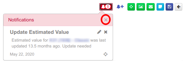 Maintenance Screen Notification Popup