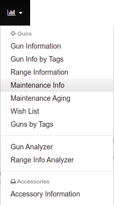 Maintenance Info Menu Option